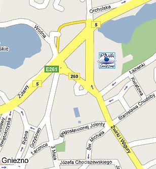 Mapa z lokalizacją PWiK Sp. z o.o. w Gnieźnie